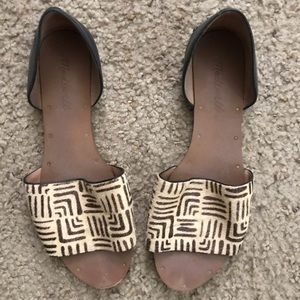 Yellow and black Madewell leather flats size 7.